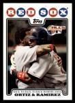 2008 Topps #99  David Ortiz / Manny Ramirez  Front Thumbnail