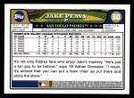 2008 Topps #50  Jake Peavy  Back Thumbnail