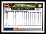 2008 Topps #65  Billy Wagner  Back Thumbnail