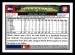 2008 Topps #37  Jason Marquis  Back Thumbnail