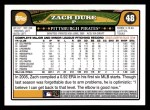 2008 Topps #48  Zach Duke  Back Thumbnail