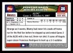 2008 Topps #26  Manny Ramirez  Back Thumbnail