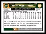 2008 Topps #118  Marco Scutaro  Back Thumbnail
