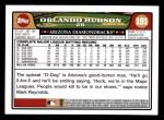 2008 Topps #191  Orlando Hudson  Back Thumbnail