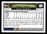 2008 Topps #189  Esteban German  Back Thumbnail