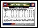 2008 Topps #114  Mike Fontenot  Back Thumbnail