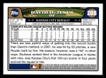 2008 Topps #208  David DeJesus  Back Thumbnail