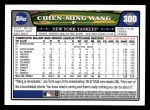 2008 Topps #300  Chien-Ming Wang  Back Thumbnail