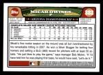 2008 Topps #382  Micah Owings  Back Thumbnail