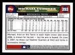 2008 Topps #393  Michael Cuddyer  Back Thumbnail