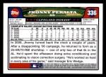 2008 Topps #336  Jhonny Peralta  Back Thumbnail