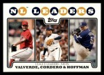 2008 Topps #323   -  Jose Valverde / Francisco Cordero / Trevor Hoffman NL Saves Leaders Front Thumbnail