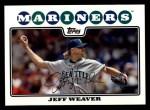 2008 Topps #366  Jeff Weaver  Front Thumbnail