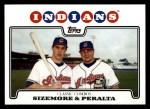 2008 Topps #332  Grady Sizemore / Jhonny Peralta  Front Thumbnail