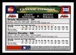 2008 Topps #332  Grady Sizemore / Jhonny Peralta  Back Thumbnail