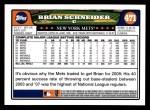 2008 Topps #471  Brian Schneider  Back Thumbnail