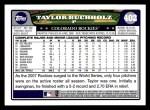 2008 Topps #402  Taylor Buchholz  Back Thumbnail