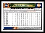 2008 Topps #484  Todd Jones  Back Thumbnail