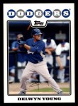2008 Topps #431  Delwyn Young  Front Thumbnail