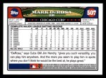 2008 Topps #507  Mark DeRosa  Back Thumbnail