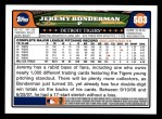 2008 Topps #503  Jeremy Bonderman  Back Thumbnail