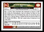 2008 Topps #538  Alex Romero  Back Thumbnail