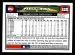 2008 Topps #528  Paul Lo Duca  Back Thumbnail