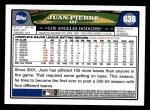 2008 Topps #638  Juan Pierre  Back Thumbnail