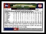 2008 Topps #612  Kelly Johnson  Back Thumbnail