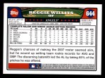 2008 Topps #644  Reggie Willits  Back Thumbnail