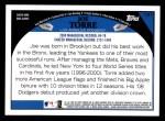 2009 Topps #131  Joe Torre  Back Thumbnail