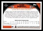2009 Topps #184  Bobby Parnell  Back Thumbnail