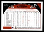2009 Topps #185  Randy Johnson  Back Thumbnail