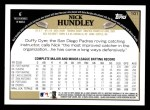 2009 Topps #101  Nick Hundley  Back Thumbnail