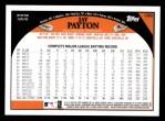 2009 Topps #189  Jay Payton  Back Thumbnail