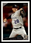 2009 Topps #225  Aaron Cook  Front Thumbnail