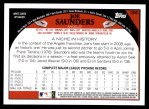 2009 Topps #280  Joe Saunders  Back Thumbnail