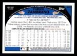 2009 Topps #265  Carlos Zambrano  Back Thumbnail