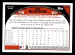 2009 Topps #207  Joe Blanton  Back Thumbnail