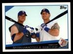 2009 Topps #201   -  Jarrod Saltalamacchia / Josh Hamilton Brothers in Arms Front Thumbnail