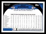 2009 Topps #236  Kelly Johnson  Back Thumbnail