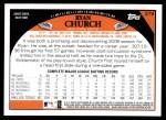 2009 Topps #279  Ryan Church  Back Thumbnail
