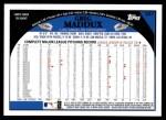 2009 Topps #287  Greg Maddux  Back Thumbnail