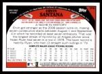 2009 Topps #356  Ervin Santana  Back Thumbnail
