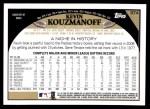 2009 Topps #374  Kevin Kouzmanoff  Back Thumbnail