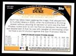 2009 Topps #303  Zach Duke  Back Thumbnail