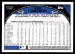 2009 Topps #346  Mike Cameron  Back Thumbnail