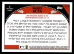 2009 Topps #318  Manny Acta  Back Thumbnail