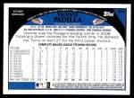 2009 Topps #323  Vicente Padilla  Back Thumbnail