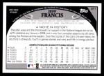 2009 Topps #371  Jeff Francis  Back Thumbnail